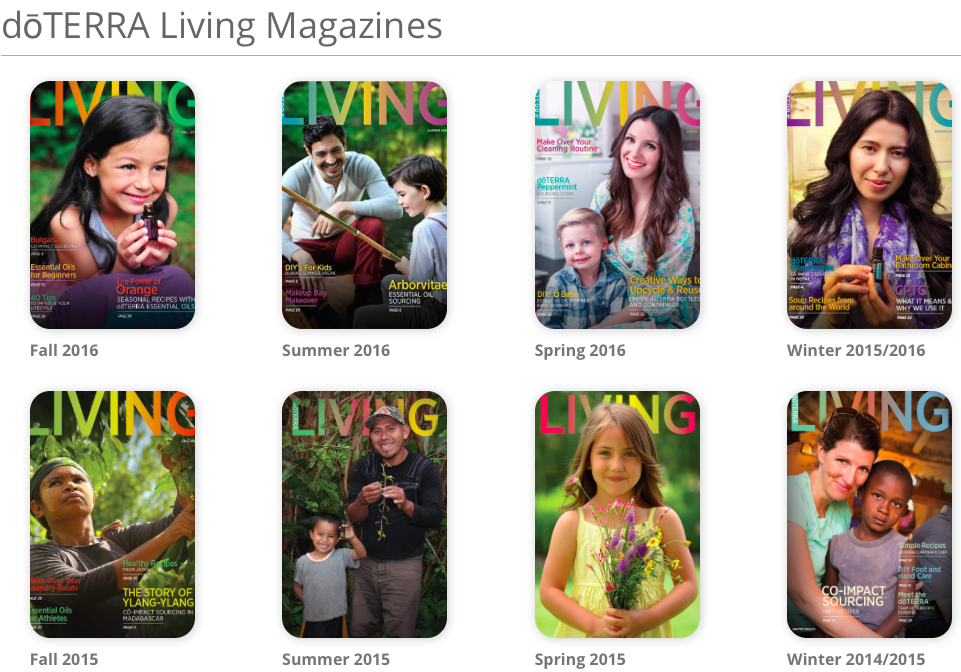 2016 doTERRA fall living magazine