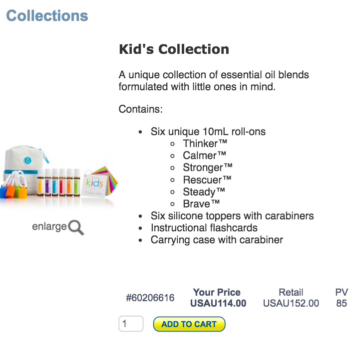 New doterra kids collection australia buy from your US cart 114US